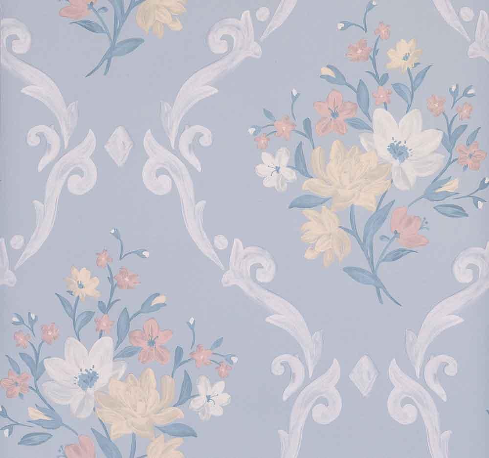 Matthew Williamson Almudaina Pale Grey/ Buttermilk Wallpaper - Product code: W7264-02
