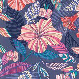 Matthew Williamson Valldemossa Midnight/ Coral/ Jade Wallpaper - Product code: W7260-04