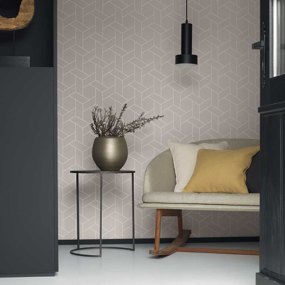 Casadeco Focale Warm Grey Wallpaper - Product code: 82031103