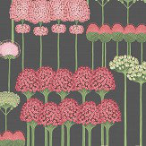 Cole & Son Allium Coral / Leaf Green / Charcoal Wallpaper