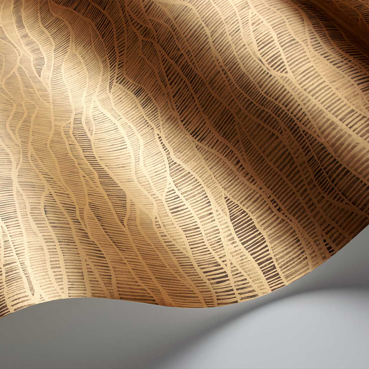 Meadow Wallpaper - Bronze / Soot - by Cole & Son