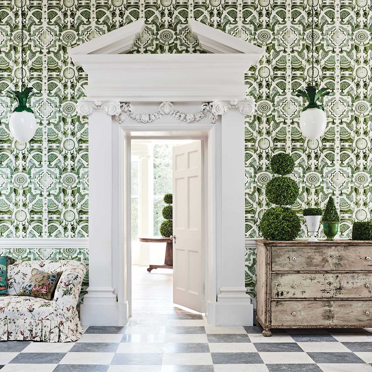 Topiary Wallpaper - Leaf Green - by Cole & Son