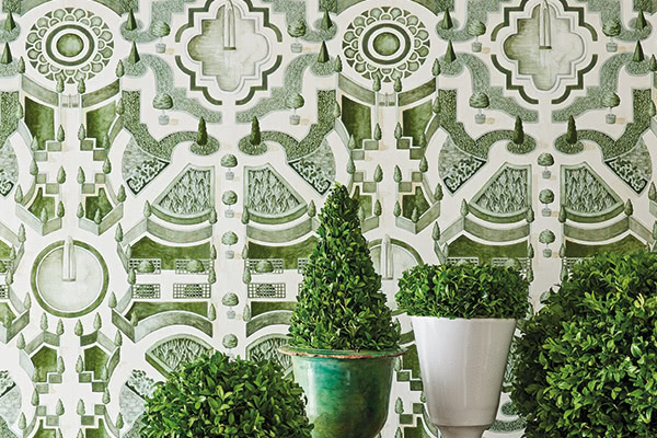 Cole & Son Topiary Leaf Green Wallpaper - Product code: 115/2005