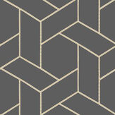 Casadeco Focale Charcoal Wallpaper - Product code: 82039528