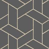 Casadeco Focale Charcoal Wallpaper