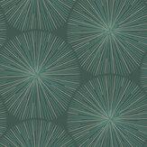 Casadeco Eclat Green and Copper Wallpaper