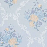 Matthew Williamson Almudaina Stone/ Blue/ Marigold Wallpaper - Product code: W7264-03