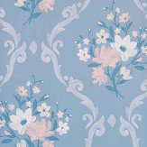 Matthew Williamson Almudaina Powder Blue/ Cream Wallpaper - Product code: W7264-04