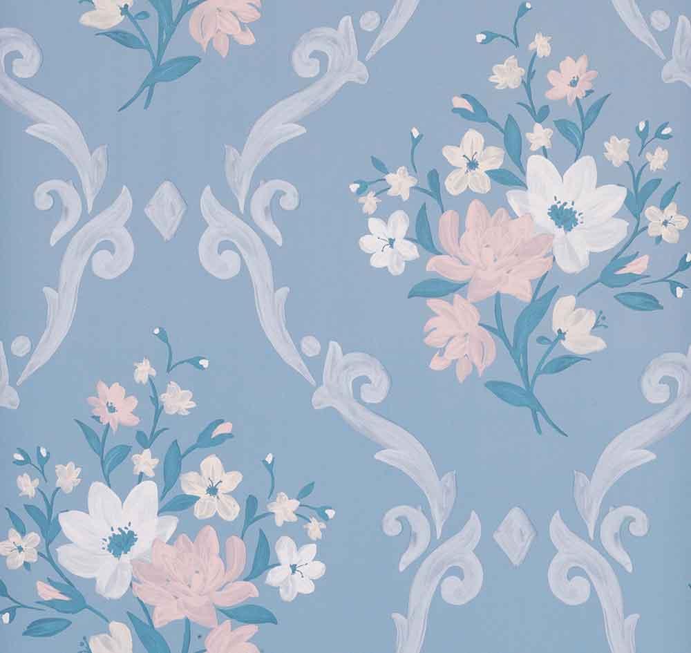 Matthew Williamson Almudaina Powder Blue/ Cream Wallpaper - Product code: W7264-04