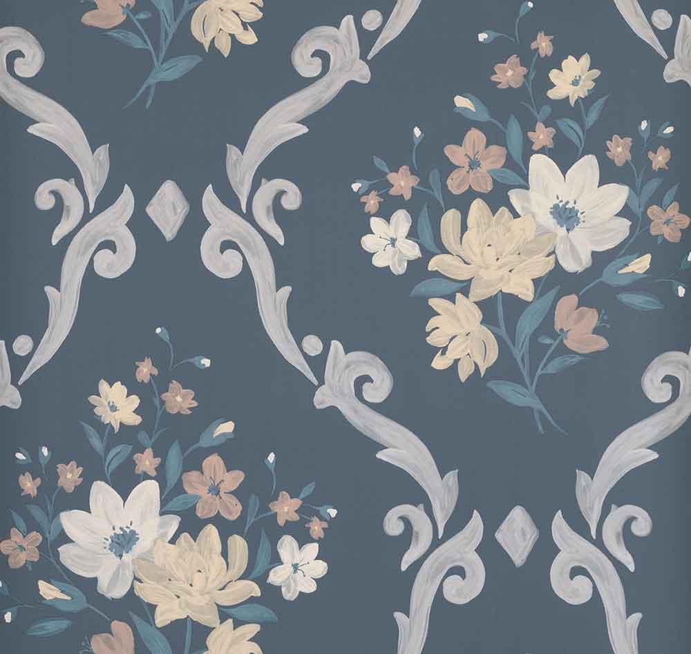 Matthew Williamson Almudaina Charcoal/ Cream Wallpaper - Product code: W7264-05