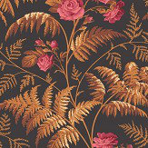 Cole & Son Rose Cerise / Burnt Orange Wallpaper
