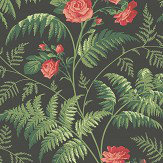Cole & Son Rose Red / Leaf Green Wallpaper