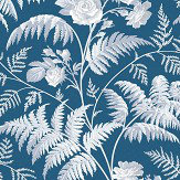 Cole & Son Rose White / Ice Blue Wallpaper