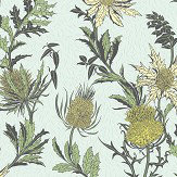 Cole & Son Thistle Lemon / Olive Wallpaper