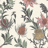 Cole & Son Thistle Alabaster Pink / Orange Wallpaper - Product code: 115/14043