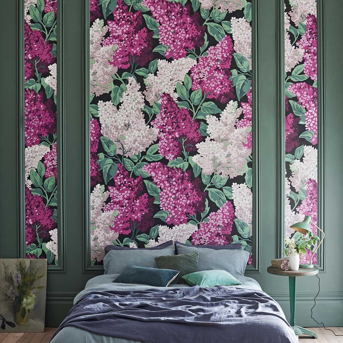 Cole & Son Lilac Grandiflora Magenta / Blush Wallpaper - Product code: 115/15045