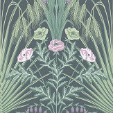 Cole & Son Bluebell Sage / Mint / Lilac Wallpaper - Product code: 115/3009