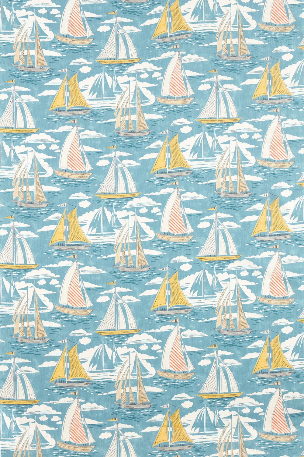 Sailor Fabric - Pacific - by Sanderson