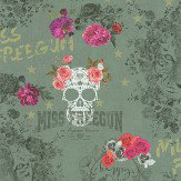 Galerie Sugar Skull Dollar Green Wallpaper - Product code: 51170604