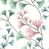 Cole & Son Maidenhair Petrol / Blush / Mint Wallpaper - Product code: 115/6017