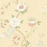 Cole & Son Camellia Coral / Sage / Buttercup Wallpaper