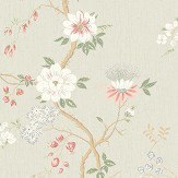 Cole & Son Camellia Coral / Duck Egg / Eau de Nil Wallpaper - Product code: 115/8024