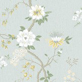 Cole & Son Camellia Lemon / Sage Wallpaper - Product code: 115/8025