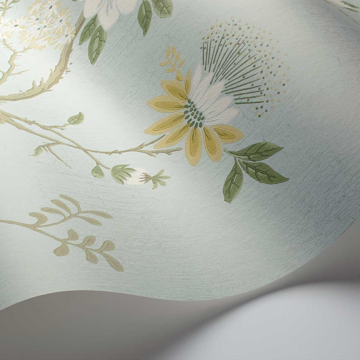 Cole & Son Camellia Lemon / Sage Wallpaper - Product code: 115/8025
