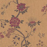 Cole & Son Camellia Crimson / Metallic Gold Wallpaper - Product code: 115/8027