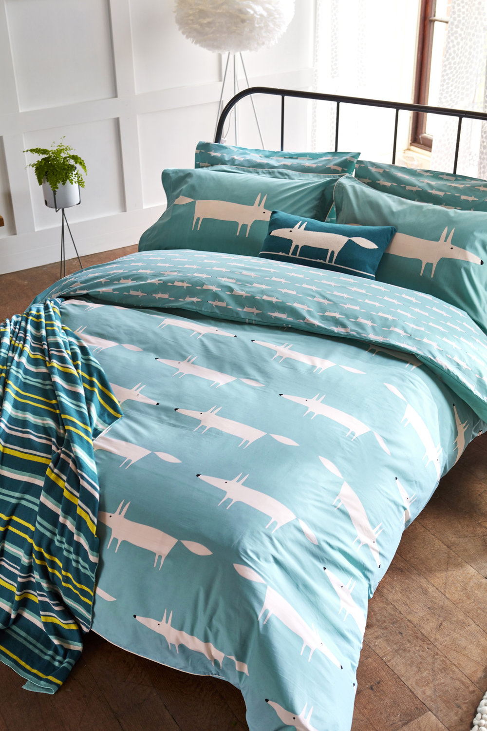 Scion Mr Fox Oxford Pillowcase Teal - Product code: DA40318025