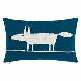 Scion Mr Fox Knitted Cushion Marine