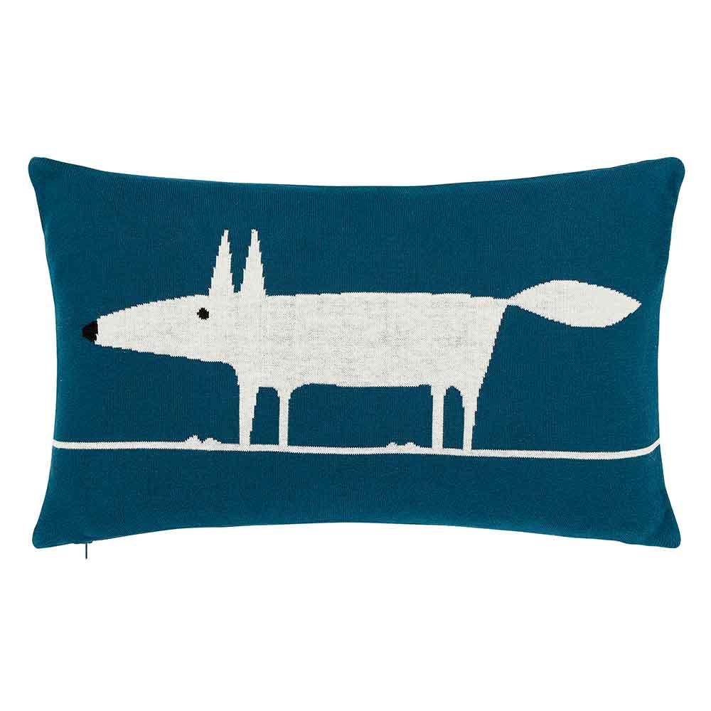 Mr Fox Knitted Cushion - Marine - by Scion