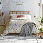 Harlequin Saona Double Duvet Green and Coral Duvet Cover