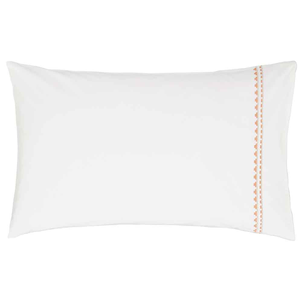 Saona Housewife Pillowcase - Green and Coral - by Harlequin