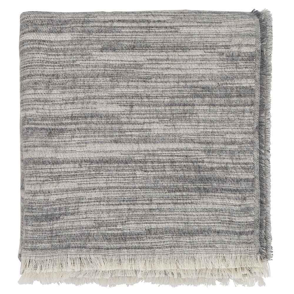 Saona Woven Throw - Grey - by Harlequin