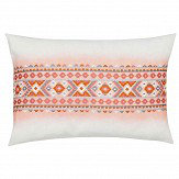 Harlequin Saona Embroidered Cushion Coral