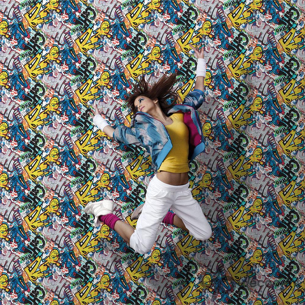 Galerie Graffiti Multicoloured Wallpaper - Product code: WU20665