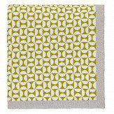 Scion Pajaro Knitted Throw Lime / Ivory / Grey
