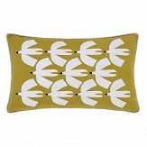 Scion Pajaro Knitted Cushion Lime & Ivory