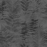 Galerie Fern Black / Silver Wallpaper