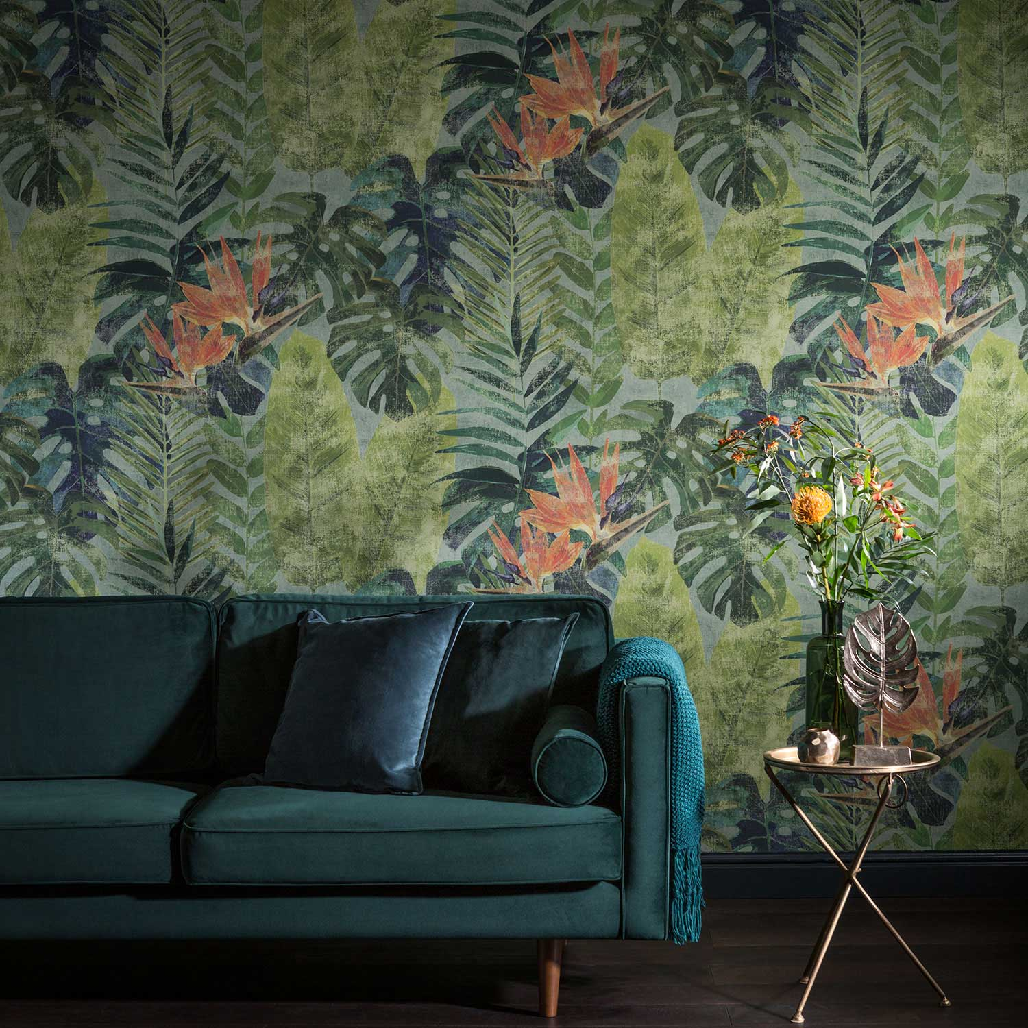 Galerie Amazonas Green Mural - Product code: TPD21295