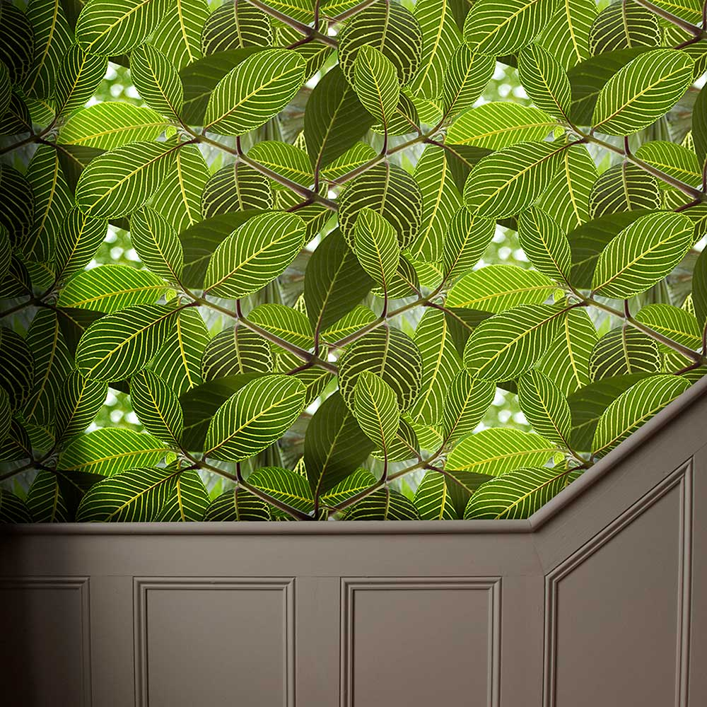 Safari Leaf Wallpaper - Green - by Ella Doran
