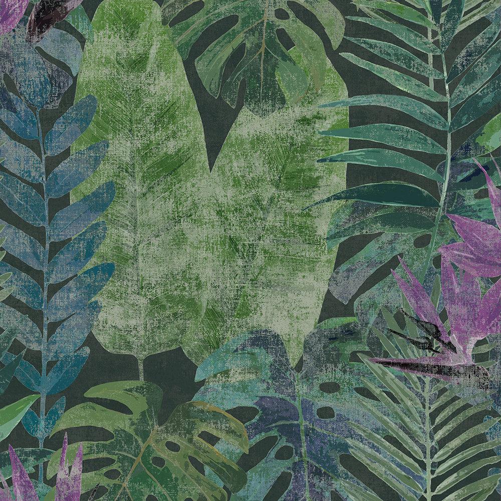 Amazonas Mural - Purple / Green - by Galerie