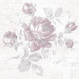 Galerie Rose and Text Pink Wallpaper