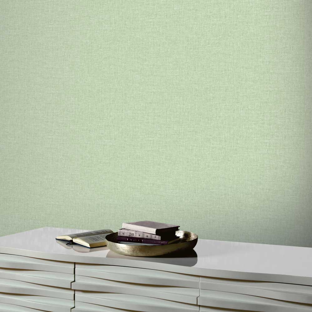 Arthouse Linen Texture Green Wallpaper - Product code: 902303