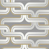 Arthouse Link Grey / Yellow Wallpaper
