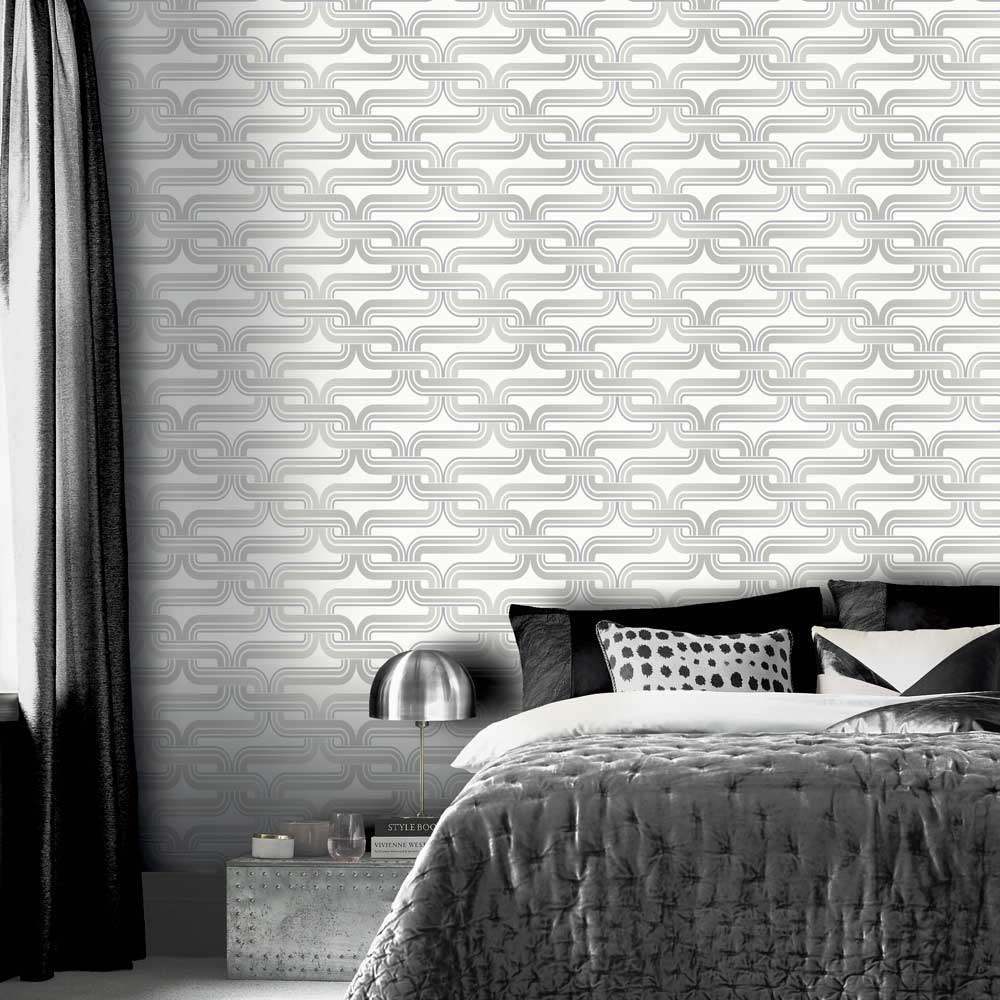 Arthouse Link Silver / White Wallpaper - Product code: 902406