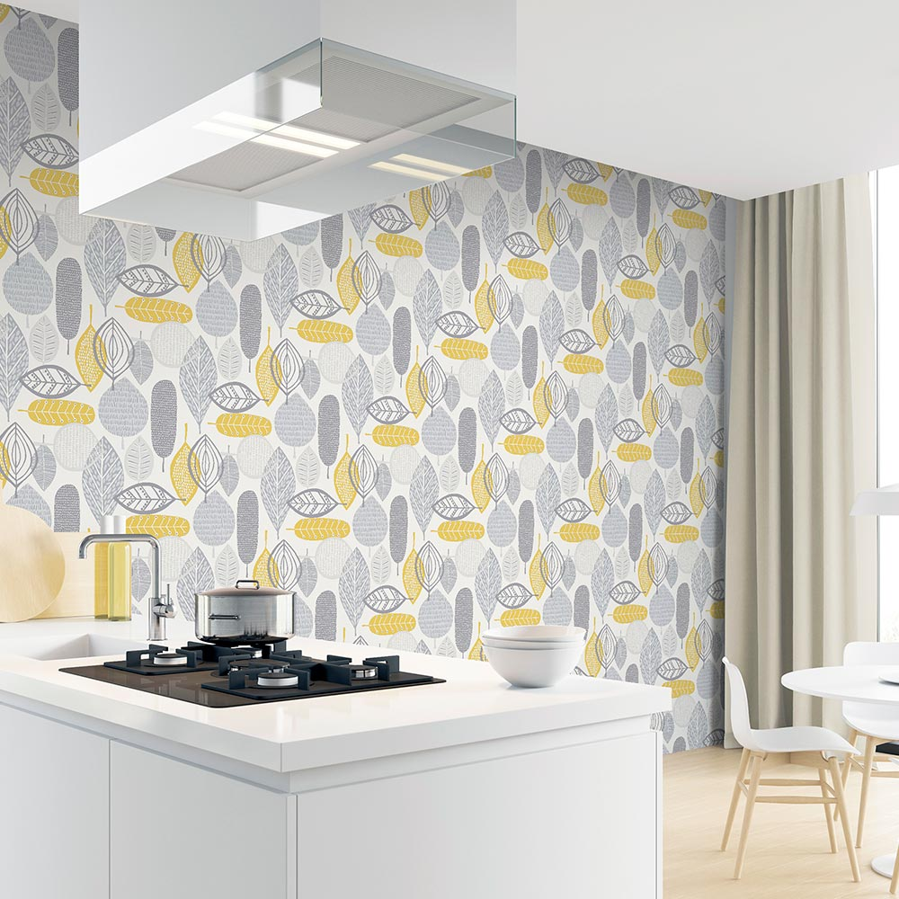 Malmo Wallpaper - Ochre - by Arthouse