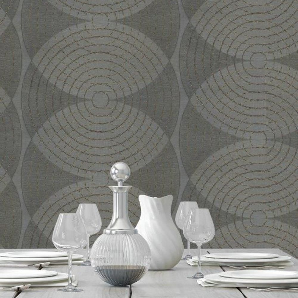 Albany Navona Black Wallpaper - Product code: 3351