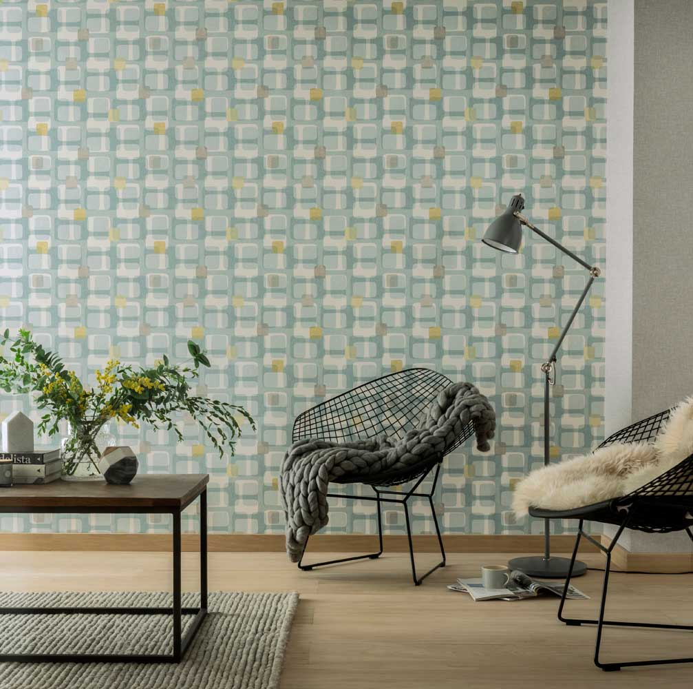 Arthouse Retro Block Teal Wallpaper - Product code: 902308